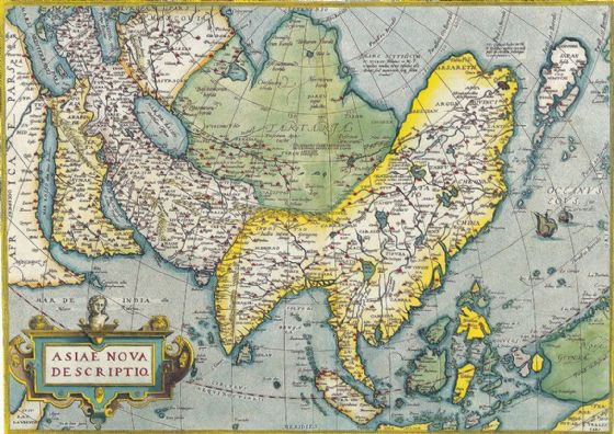 Ortelius, Abraham: Map of Asia. Antique/Vintage Map. Fine Art Print/Poster. Sizes: A4/A3/A2/A1 (003872)